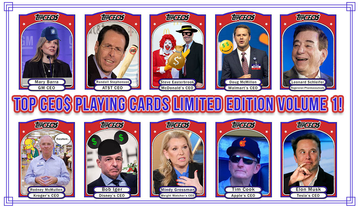 Top CEO$ Playing Cards! Limited Edition Series #1